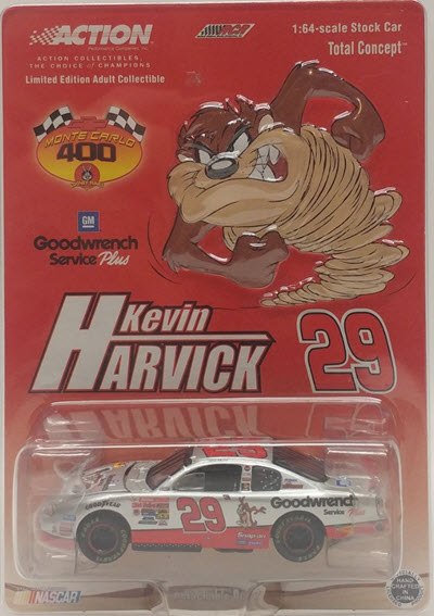 2001 Kevin Harvick NASCAR Diecast 29 Looney Tunes Taz CWC 1:64 Action ARC 1