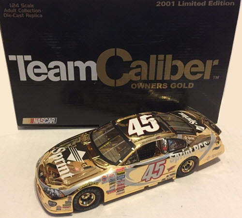 2001 Kyle Petty NASCAR Diecast 45 Sprint 1:24 CWC Team Caliber Owners Gold 1