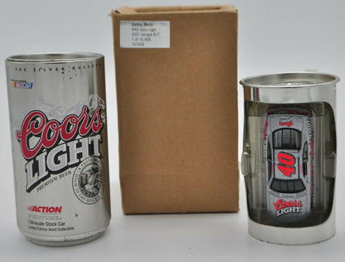 2001 Sterling Marlin NASCAR Diecast 40 Coors Light CWC 1:64 Action ARC Beer Can 1