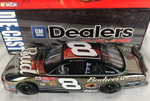 2002 Dale Earnhardt Jr NASCAR Diecast 8 Bud Budweiser CWC 1:24 Action ARC GM Dealers White Gold 1