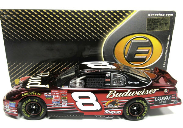 2002 Dale Earnhardt Jr NASCAR Diecast 8 Bud Budweiser CWC 1:24 Action RCCA Elite Color Chrome 1