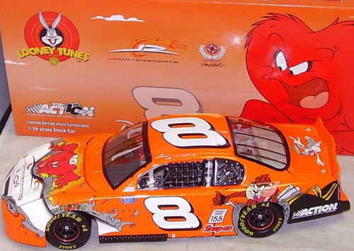 2002 Dale Earnhardt Jr NASCAR Diecast 8 Looney Tunes Rematch Gossamer CWC 1:24 Action ARC 1