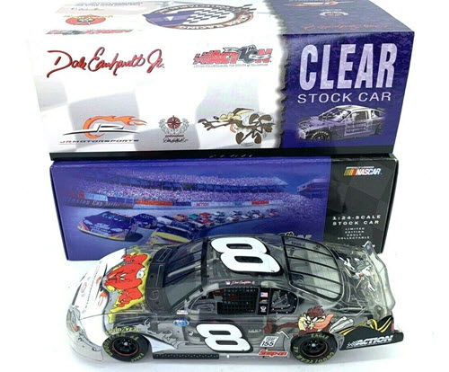 2002 Dale Earnhardt Jr NASCAR Diecast 8 Looney Tunes Rematch Gossamer CWC 1:24 Action ARC Clear Car 1