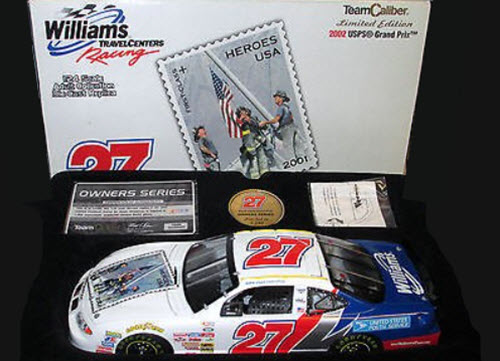 2002 Jamie McMurray NASCAR Diecast 27 USPS 911 Tribute CWC 1:24 Team Caliber Owners TCOS 1