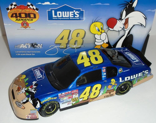 2002 Jimmie Johnson NASCAR Diecast 48 Looney Tunes Sylvester Tweety BWB Bank 1:24 Action ARC 1