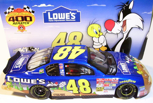 2002 Jimmie Johnson NASCAR Diecast 48 Looney Tunes Sylvester Tweety CWC 1:24 Action ARC 2