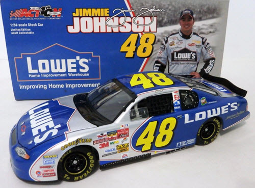 2002 Jimmie Johnson NASCAR Diecast 48 Lowes CWC 1:24 Action ARC 1