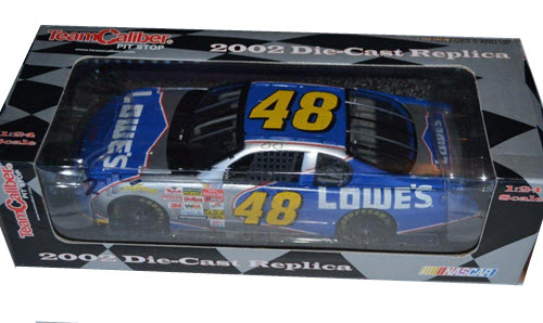 2002 Jimmie Johnson NASCAR Diecast 48 Lowes CWC 1:24 Team Caliber Pit Stop 1