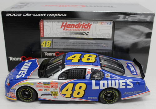 2002 Jimmie Johnson NASCAR Diecast 48 Lowes CWC 1:24 Team Caliber Preferred 1