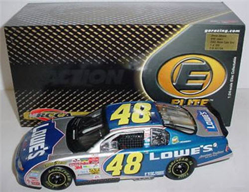 2002 Jimmie Johnson NASCAR Diecast 48 Lowes Rookie CWC 1:24 Action RCCA Elite 1