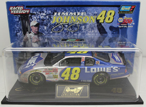 2002 Jimmie Johnson NASCAR Diecast 48 Lowes Sonoma California Win Raced Version CWC 1:24 Revell Collection 1a