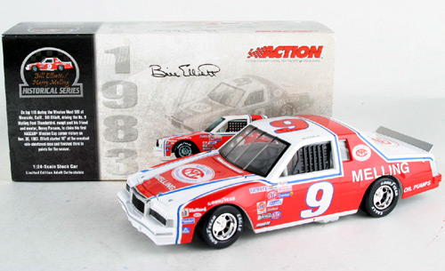 2003 Bill Elliott NASCAR Diecast 9 Melling 1st winston Cup Win Riverside CWC 1:24 Action ARC Historical 1