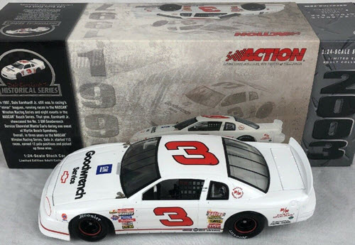 2003 Dale Earnhardt Jr NASCAR Diecast 3 GMGW GM Goodwrench White CWC 1:24 Action ARC Historical Series 1
