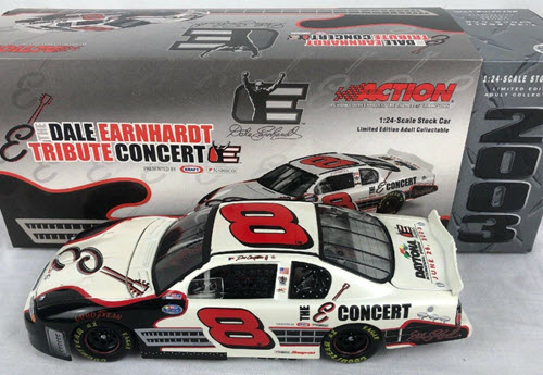 2003 Dale Earnhardt Jr NASCAR Diecast 8 E Tribute Concert CWC 1:24 Action ARC 1