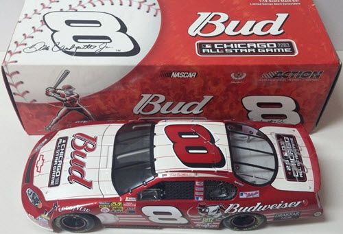 2003 Dale Earnhardt Jr NASCAR Diecast 8 MLB Baseball Chicago All Star Game CWC 1:18 Action ARC 1