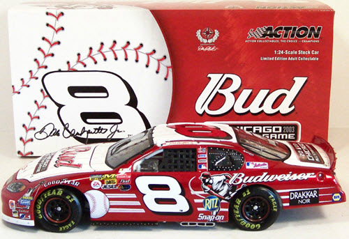 2003 Dale Earnhardt Jr NASCAR Diecast 8 MLB Baseball Chicago All Star Game CWC Action ARC 1
