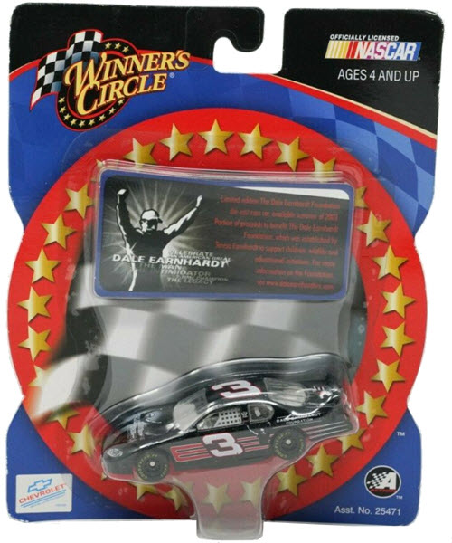 2003 Dale Earnhardt Sr NASCAR Diecast 3 Foundation CWC 1:64 Winners Circle Short Card 1