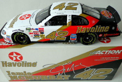 2003 Jamie McMurray NASCAR Diecast 42 Havoline Davey Allison Memorial CWC 1:24 Action ARC 1
