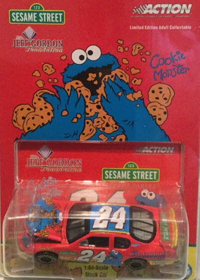 2003 Jeff Gordon NASCAR Diecast 24 Foundation Sesame Street Cookie Monster CWC 1:64 Action ARC 1