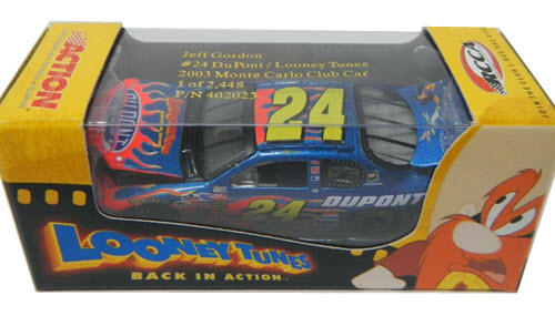 2003 Jeff Gordon NASCAR Diecast 24 Looney Tunes Back In Action CWC 1:64 Action RCCA Club Car 1