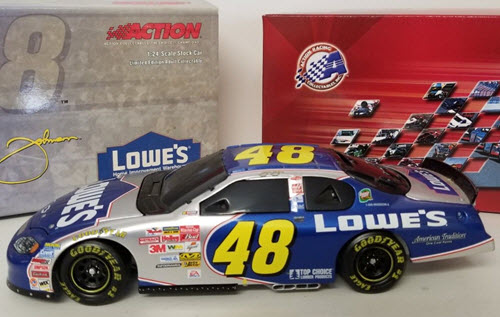 2003 Jimmie Johnson NASCAR Diecast 48 Lowes BWB Bank 1:24 Action ARC 1a