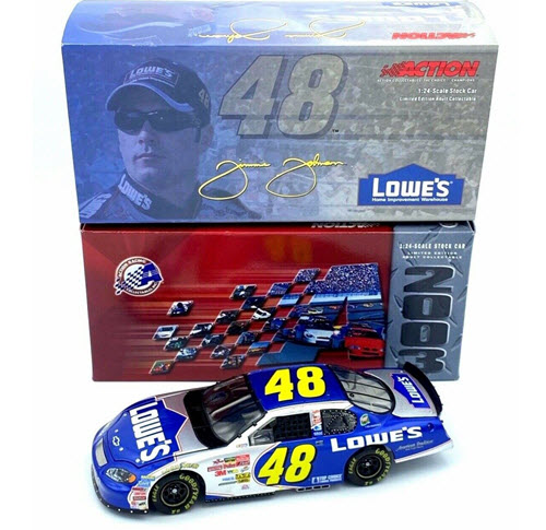 2003 Jimmie Johnson NASCAR Diecast 48 Lowes CWC 1:24 Action ARC 1