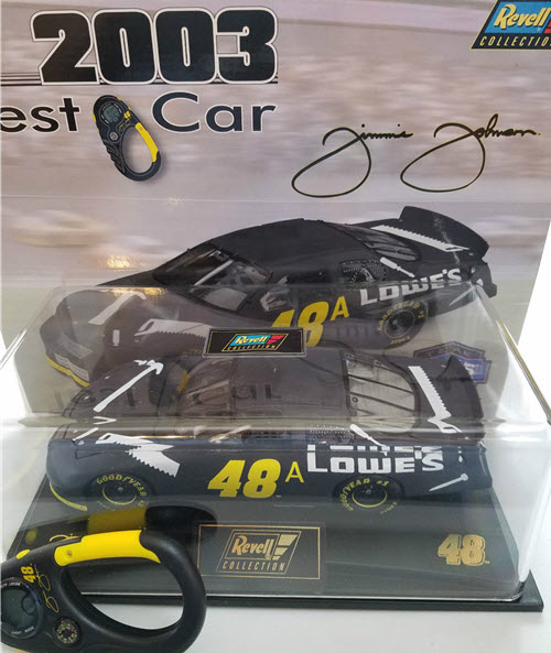 2003 Jimmie Johnson NASCAR Diecast 48 Lowes Test Car CWC 1:24 Revell Collection 1