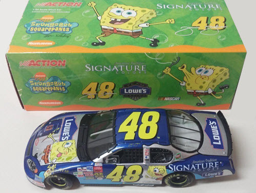 2003 Jimmie Johnson NASCAR Diecast 48 Spongebob Sponge Bob SquarePants CWC 1:24 Action ARC 1