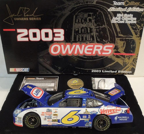 2003 Mark Martin NASCAR Diecast 6 Kraft Daytona Shootout CWC 1:24 Team Caliber Owners 1b
