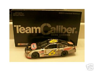 2003 Mark Martin NASCAR Diecast 6 Kraft Daytona Shootout CWC 1:24 Team Caliber Owners Dark Chrome 1