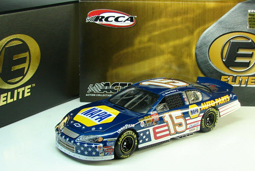 2003 Michael Waltrip NASCAR Diecast 15 NAPA Stars Stripes CWC 1:24 Action RCCA Elite 1