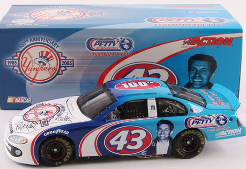 2003 Richard Petty Yogi Berra NASCAR Diecast 43 NY Yankees 100th Anniversary CWC 1:24 Action ARC Autographed 1a