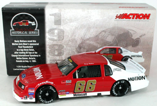 2003 Rusty Wallace NASCAR Diecast 66 Motion 1985 CWC 1:24 Action ARC 1