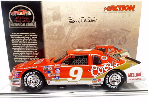 2004 Bill Elliott NASCAR Diecast 9 Coors 1985 CWC 1:24 Action ARC QVC Release 1