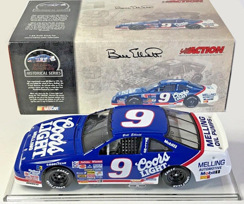 2004 Bill Elliott NASCAR Diecast 9 Coors Light 1991 CWC 1:24 Action ARC Historical 1