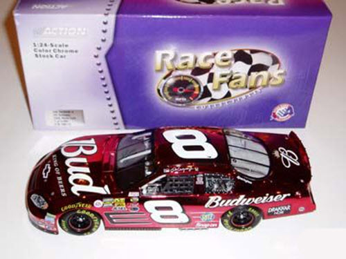 2004 Dale Earnhardt Jr NASCAR Diecast 8 Bud Budweiser CWC 1:24 Action QVC RFO Race Fans Only Color Chrome 1