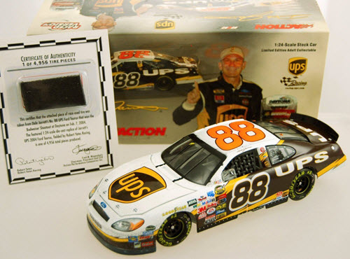 2004 Dale Jarrett NASCAR Diecast 88 UPS Bud Budweiser Shootout Win Raced Version CWC 1:24 Action ARC 1