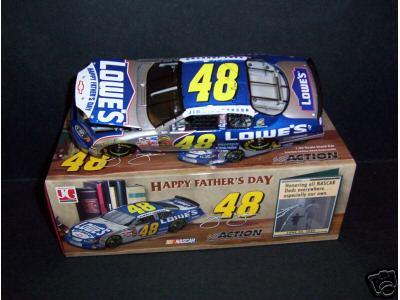 2004 Jimmie Johnson NASCAR Diecast 48 Fathers Day CWB Bank 1:24 Action ARC 1