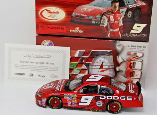 2004 Kasey Kahne NASCAR Diecast 9 Dodge Dealers Raybestos ROTY Rookie of the Year CWC 1:24 Action ARC Autographed QVC Release 1