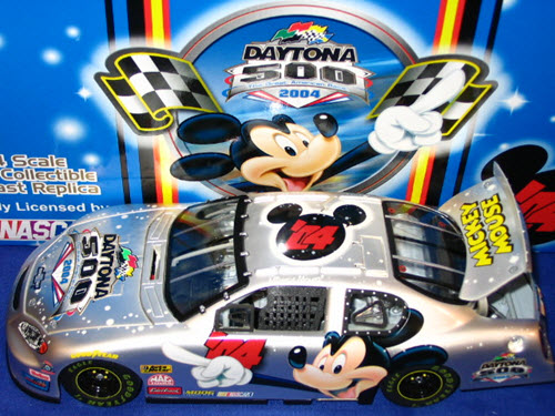 2004 NASCAR Diecast 04 Daytona 500 Mickey Mouse CWC 1:24 Team Caliber Owners Pearl Chrome 1