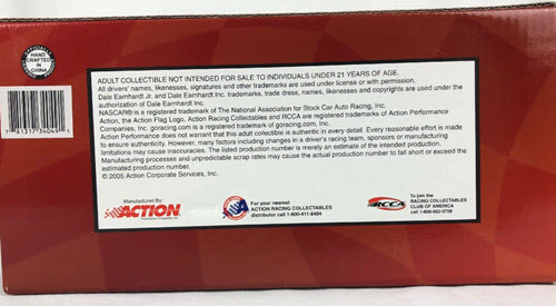 2005 Dale Earnhardt Jr NASCAR Diecast 8 Bud Budweiser CWC 1:24 Action ARC Window Box 3