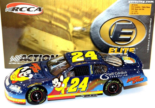 2005 Jeff Gordon NASCAR Diecast 24 Foundation Mighty Mouse CWC 1:24 Action RCCA Elite 1