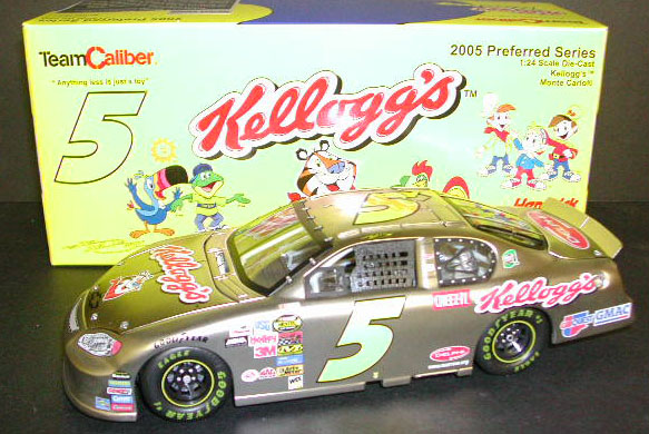 2005 Kyle Busch NASCAR Diecast 5 Kelloggs CWC 1:24 Team Caliber Preferred Nickel 1