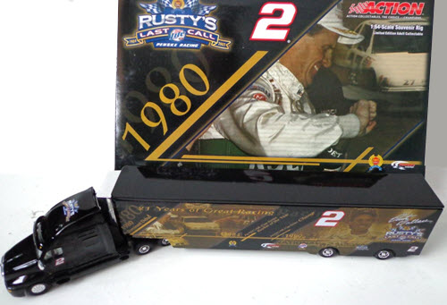 2005 Rusty Wallace NASCAR Diecast 2 Last Call Souvenir Rig 1980 Hauler Transporter 1:64 Action RCCA 1