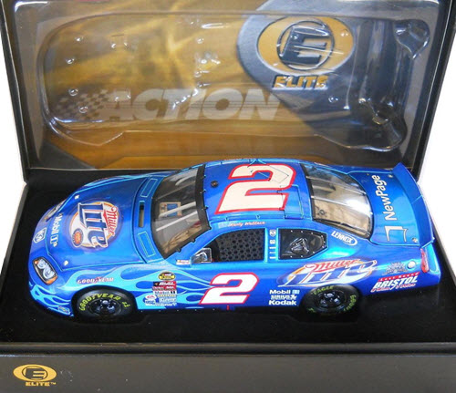 2005 Rusty Wallace NASCAR Diecast 2 Miller Lite Bristol Flames CWC 1:24 Action RCCA Elite 2