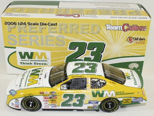 2006 Bill Lester NASCAR Diecast 23 Waste Management CWC 1:64 Team Caliber Preferred 1