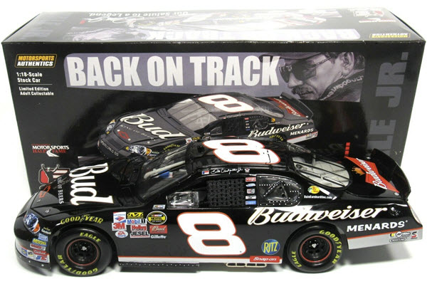 2006 Dale Earnhardt Jr NASCAR Diecast 8 Bud Budweiser 3 Three Days of Dale Black Back On Track Tribute CWC 1:24 Action ARC 1