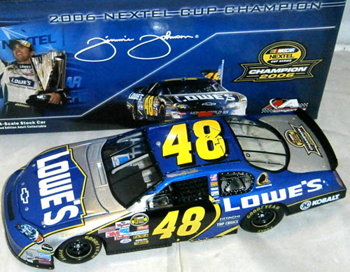 2006 Jimmie Johnson NASCAR Diecast 48 Lowes 1X Champ Champion CWC 1:24 Action ARC 1