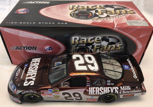 2006 Kevin Harvick NASCAR Diecast 29 Hersheys Milk Chocolate CWC 1:24 QVC RFO Race Fans Only Color Chrome 1