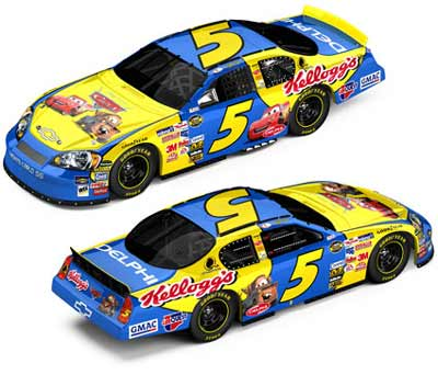 2006 Kyle Busch NASCAR Diecast 5 Cars Disney Movie CWB Bank 1:24 Action ARC 99
